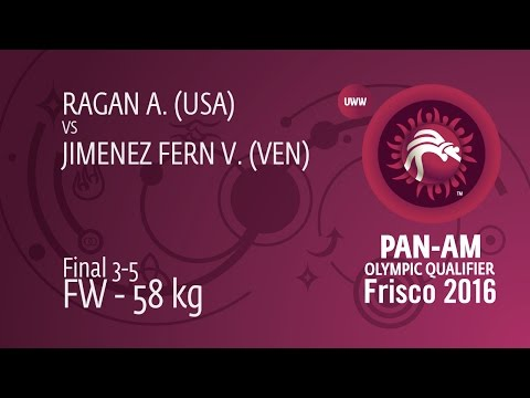 BRONZE FW - 58 kg: V. JIMENEZ FERN (VEN) df. A. RAGAN (USA), 8-5