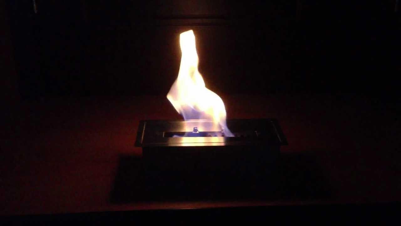 ignis ethanol burner 1 5 liters ethanol fire box youtube