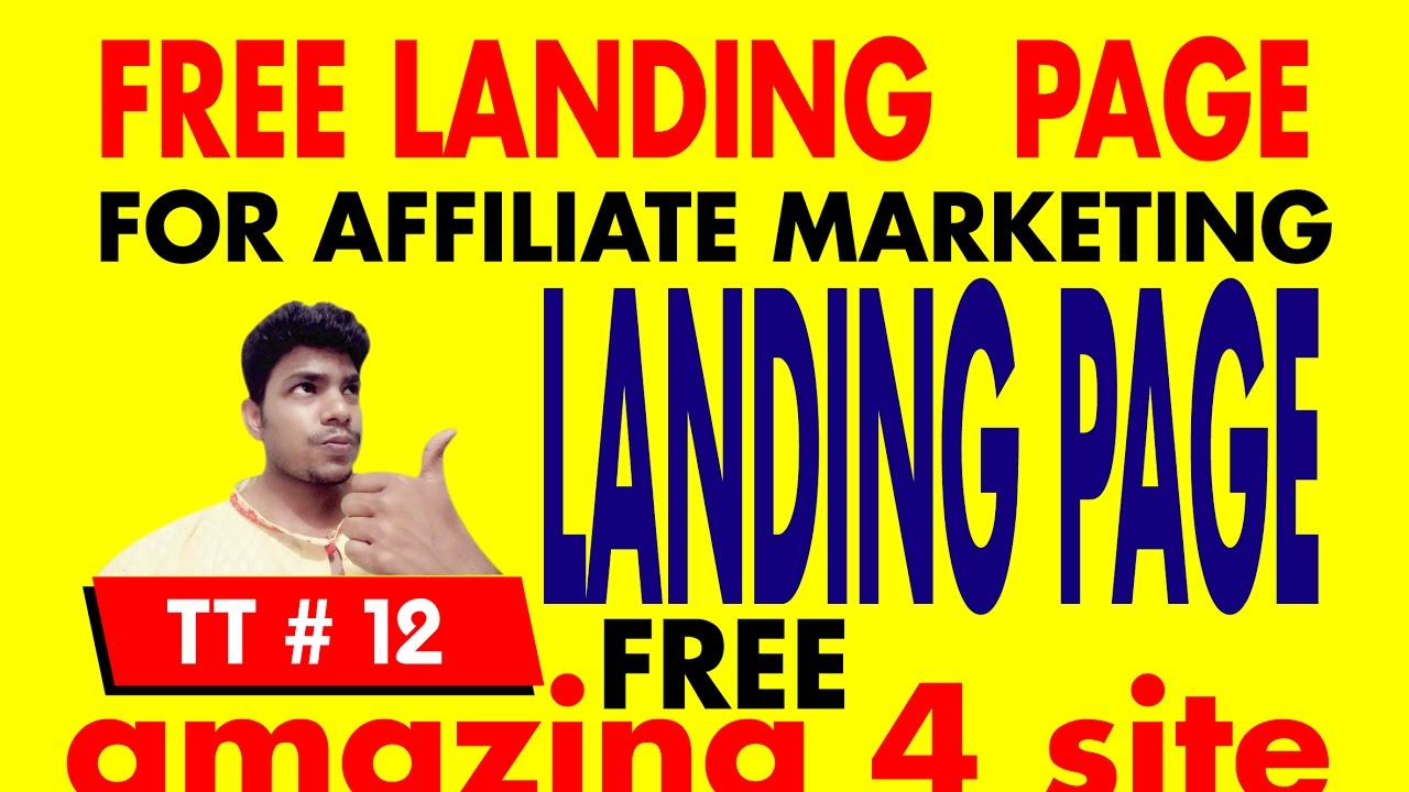 free landing page for affiliate marketing