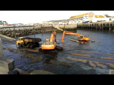 Dredging West Bay harbour