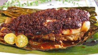 SUPER EASY Oven-Baked Sambal Fish (Stingray) 叁巴魔鬼鱼 Ikan Bakar/Panggang