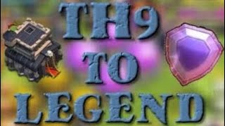 How to be a Legend with TH9! Town Hall 9 in Legend League Attack Replays!