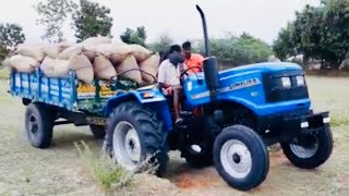 Sonalika DI 47 RX 50 hp Tractor with fully loaded trolley   Sonalika tractor power   CFV