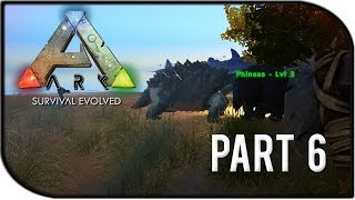 "ARK: Survival Evolved Gameplay Part 6 - ""Dinosaur Battles!"""