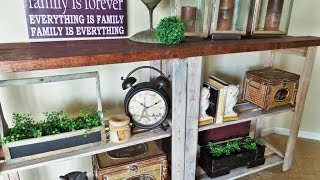 Trash To Treasure Rustic Console Table [how To]