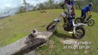 Basic trials training: how to balance on a trials bike