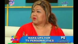 Make-up techniques of TV stars