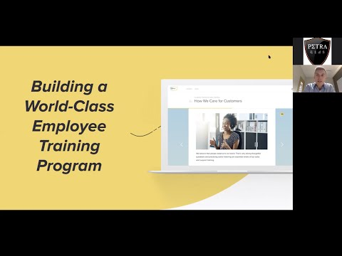 "Petra presents, ""Building a World-Class Employee Training Program,"" a webinar with Matt Lubbers"
