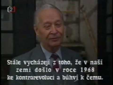 Alexandr Dubček - únor 1989, před sametovou revolucí