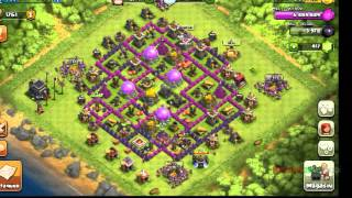 Presentation de mes photos de l'evolution de mon village sur clash of clans