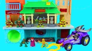Teenage Mutant Ninja Turtles Turtle Robots and splinter fight Shredder foot clan Cyclops Imaginext