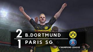 BORUSSIA DORTMUND 2 x 1 PARIS SAINT-GERMAIN - CHAMPIONS LEAGUE RECRIADA NO FIFA MOBILE
