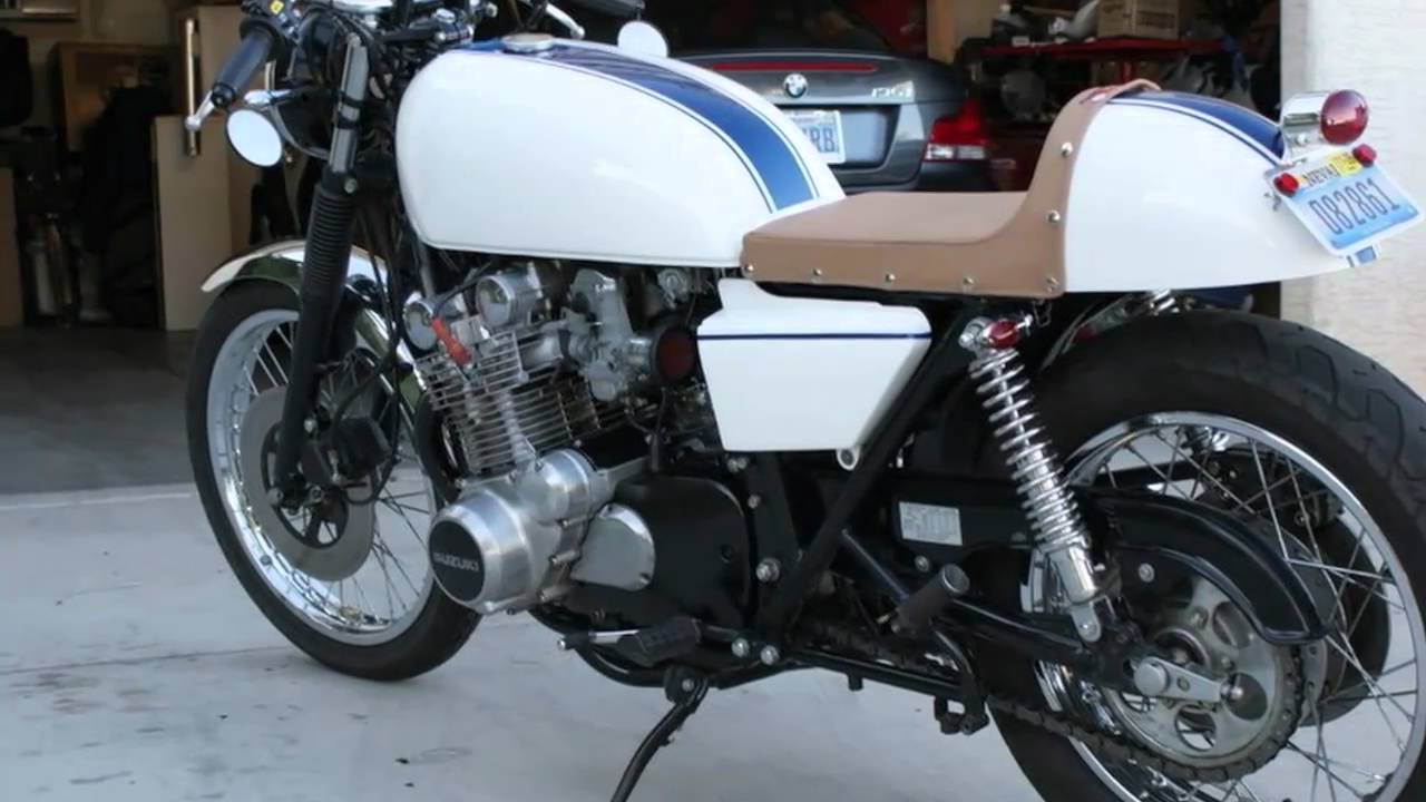 suzuki gs 750 cafe racer - youtube