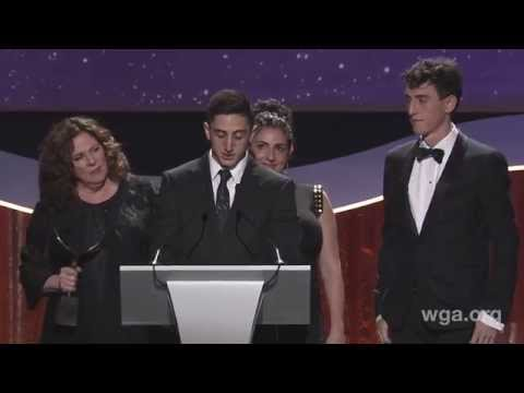 The Harold Ramis family accepts the 2015 Writers Guild Screen Laurel Award