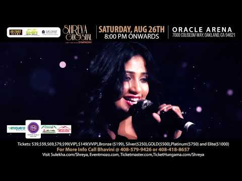 Shreya Ghoshal LIVE in Oracle Arena, Oakland Aug 26th