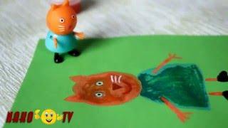 Свинка Пеппа  Мультик из игрушек  Пеппа в школе урок рисования портрет кошки Кэнди Peppa Pig