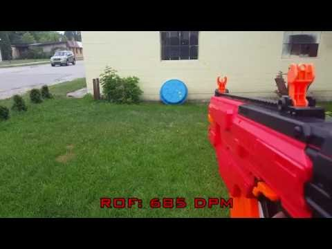 Nerf Rival Khaos -  Stock vs Modified ROF