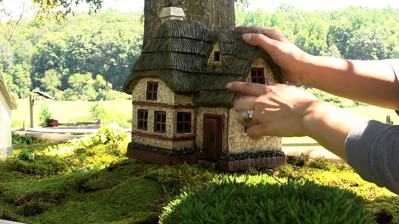 Two Story Fairy Garden Cottage SKU# 53272   Plow U0026 Hearth   YouTube