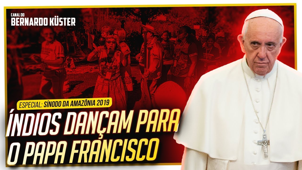 Índios dançam para o Papa Francisco