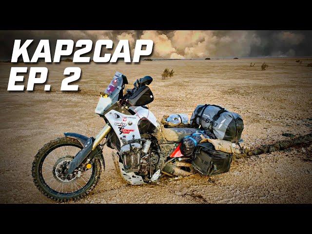 Kap2cap Ép.2 ►Prisonniers d'un chott en Mauritanie  ► 26.000 km en Ténéré 700
