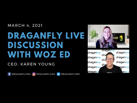 Draganfly's Discussion With Woz ED CEO, Karen Young On New Partnership