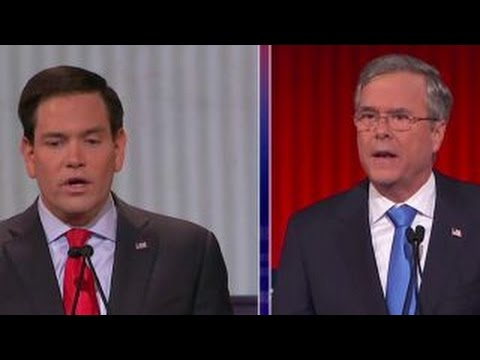 Jeb Bush and Marco Rubio spar over immigration reform