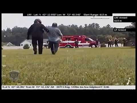 Massachusetts State Police helicopter crew rescues lost hiker (video)