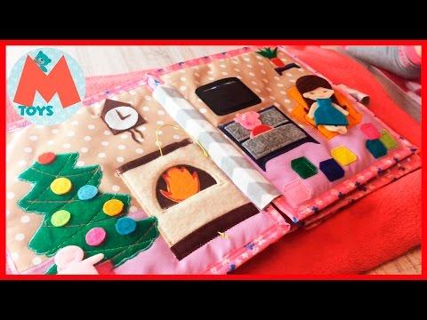 ❤ Развивающая мягкая книжка для ребенка. Текстильная книга ручной работы