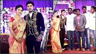 Vijay TV fame Tiger Garden ThangaDurai wishes Sandy at his wedding reception