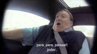 El piloto de Nascar Jeff Gordon le hace una broma a un vendedor de coches(subtitulado)