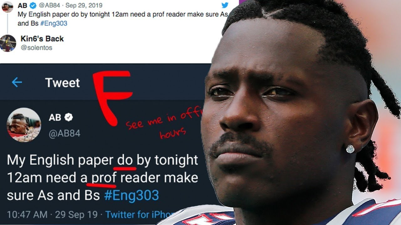 Antonio Brown Roasted On Twitter After Asking For Help For His English Homework