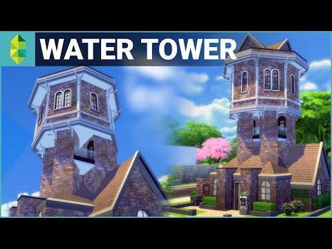 WATER TOWER Conversion | The Sims 4 House Building
