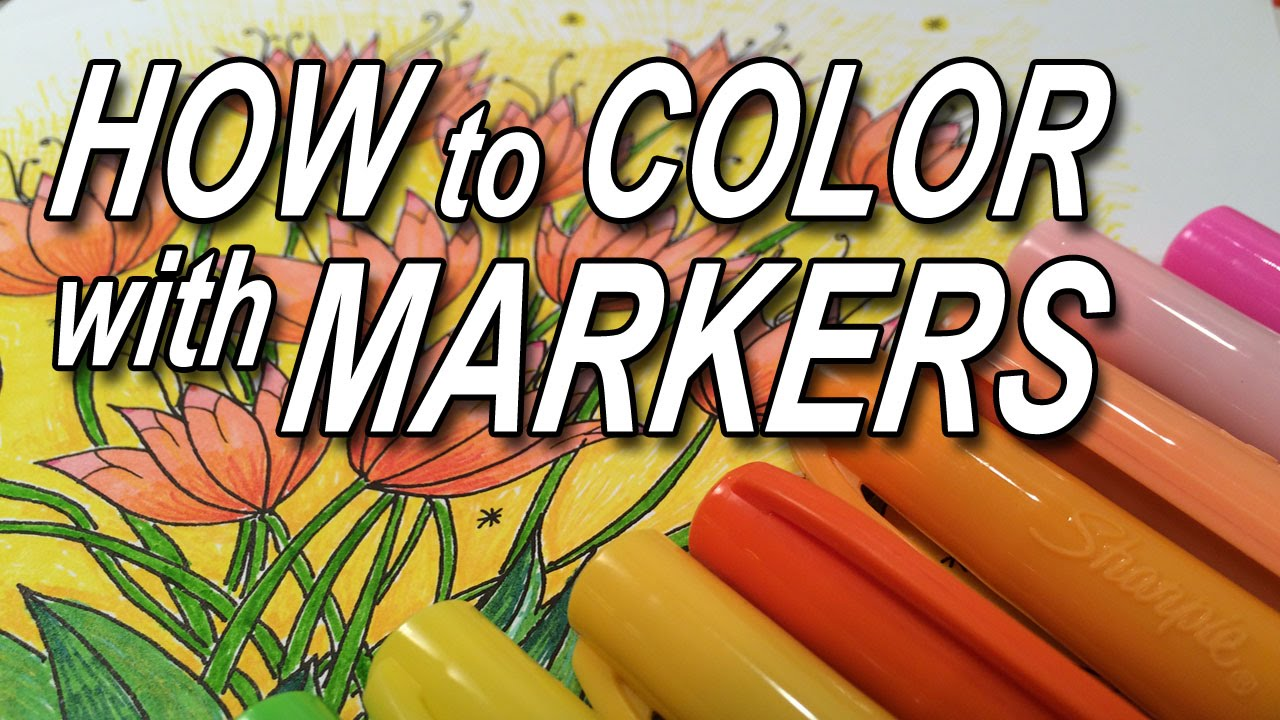 how to color with markers youtube