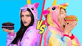 Good Unicorn Food vs Bad Unicorn Food Challenge! / 11 Rainbow Unicorn Recipes