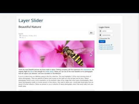 Layer Slider For Joomla! Tutorial - Insert Slider To Article