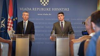 NATO Secretary General with Prime Minister of Croatia, 09 JUL 2015