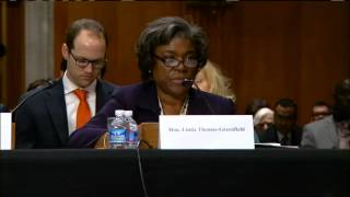 Assistant Secretary Thomas-Greenfield Testifies on the Situation in South Sudan