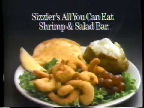 1989 sizzler all you can eat restaurant tv commerical youtube. Black Bedroom Furniture Sets. Home Design Ideas