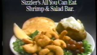 1989 Sizzler All you can eat Restaurant TV Commerical