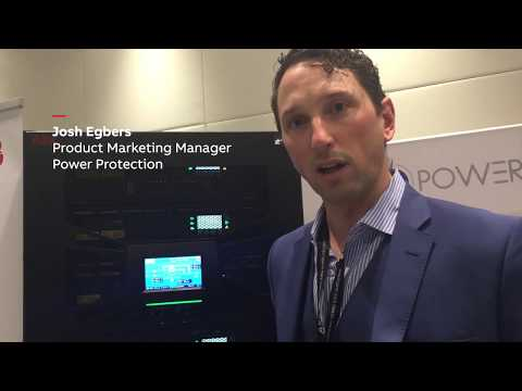 Josh Egbers At DCD Australia 2018 Showcasing The Most Energy-lean UPS On The Market