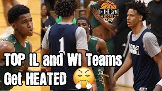 Nicolet vs  Morgan Park gets HEATED! | Battle of WI and IL