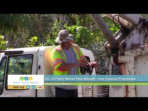 WPB Dir. of Public Works Pete Bieniek: Irma Cleanup Progresses