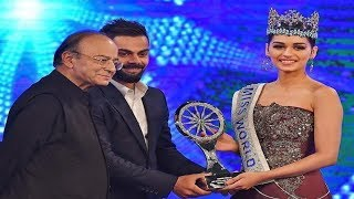 Manushi Chhillar awarded Indian of the year special achievement award
