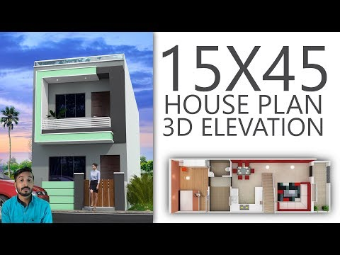 15X45 House plan with 3d elevation by nikshail - YouTube