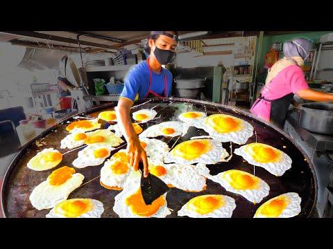 Street Food in Malaysia - The EGG FRY NINJA + HUGE Street Food Tour of Melaka, Malaysia!!!