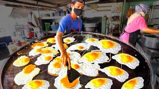 Street Food in Malaysia - The EGG FRY NINJA + HUGE...