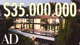 Inside a $35M Hollywood Mansion With a 2 Level Glass-Bottomed Pool | On The Market