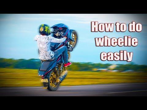 How To Do Wheelie Pulsar 220   hindi  