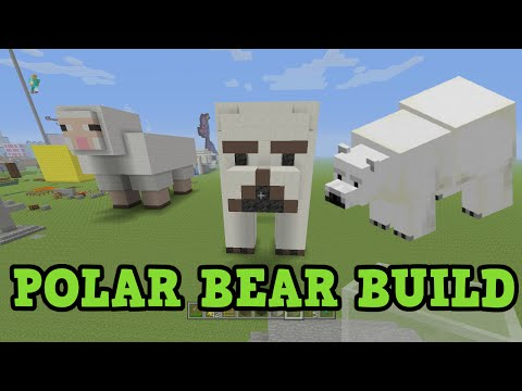 Minecraft (1.10) - POLAR BEAR Build Tutorial