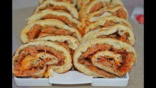 Lahmacun böreği yapımı çokkk kolay ve muhteşem lezzetli